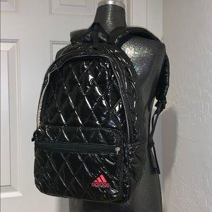 ADIDAS Black Quilted Backpack Bag medium EXCELLENT